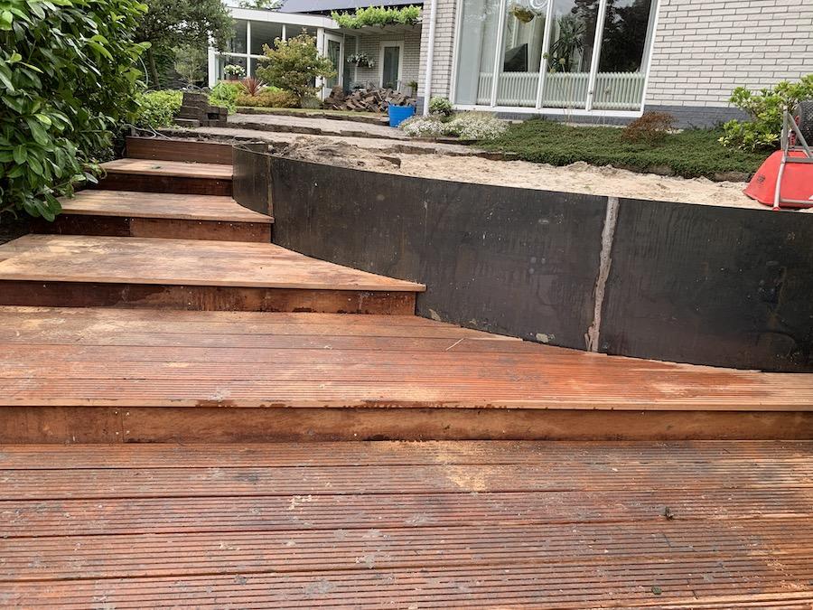 houtwerk tuin aanleg